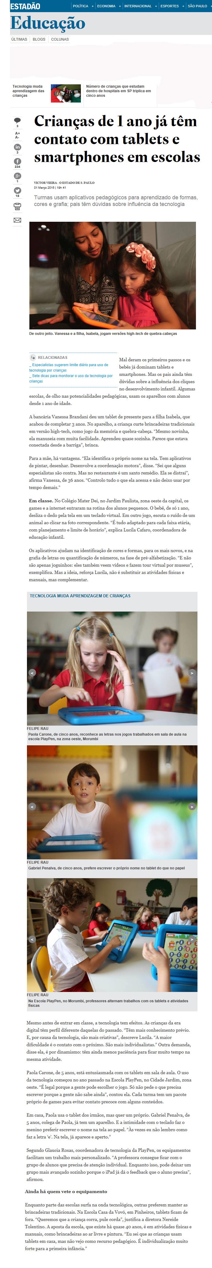 tablet nas escolas
